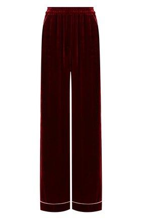 Женские бархатные брюки DOLCE & GABBANA бордового цвета, арт. FTAMPT/FUVKQ | Фото 1