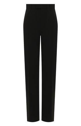 Женские шерстяные брюки BOTTEGA VENETA черного цвета, арт. 599728/VKI30 | Фото 1
