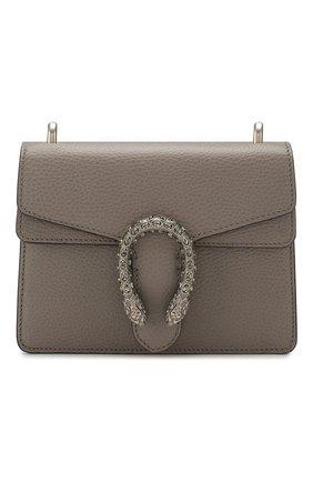Женская сумка dionysus mini GUCCI серого цвета, арт. 421970/CA0GN | Фото 1