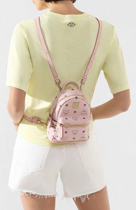 Женский рюкзак stark micro MCM розового цвета, арт. MMK 6SVE92 | Фото 2