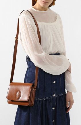 Женская сумка le 61 small SAINT LAURENT коричневого цвета, арт. 568569/02G2W | Фото 2