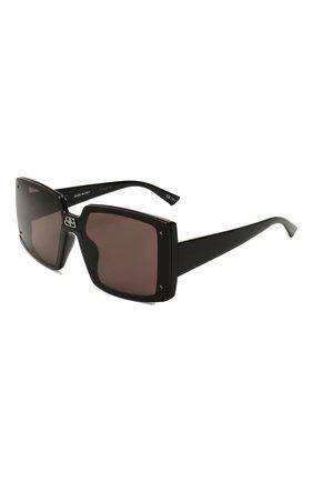 Женские солнцезащитные очки BALENCIAGA черного цвета, арт. 609371/T0003 | Фото 1