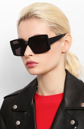 Женские солнцезащитные очки BALENCIAGA черного цвета, арт. 609371/T0003 | Фото 2