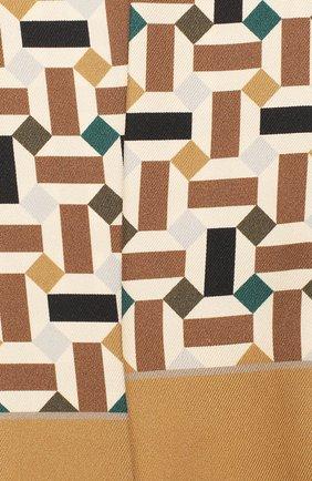 Мужские шелковый шарф-бандо zellige LORO PIANA коричневого цвета, арт. FAL1441 | Фото 2