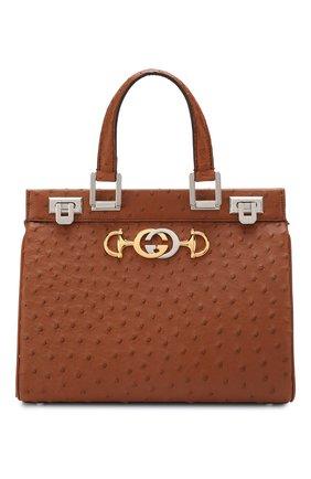 Женская сумка gucci zumi small GUCCI коричневого цвета, арт. 569712/EY00X | Фото 1