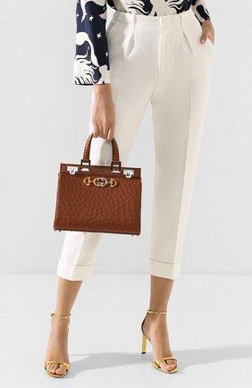 Женская сумка gucci zumi small GUCCI коричневого цвета, арт. 569712/EY00X | Фото 2