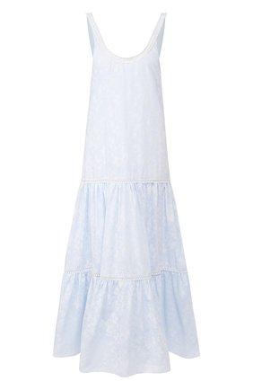 Женское хлопковое платье MASTERPEACE голубого цвета, арт. MP-RESORT20-33 | Фото 1