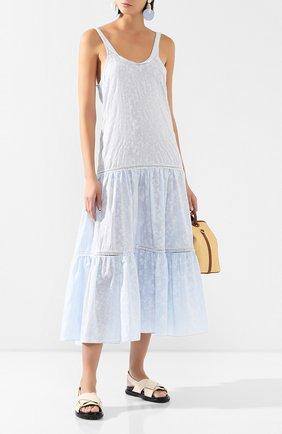 Женское хлопковое платье MASTERPEACE голубого цвета, арт. MP-RESORT20-33 | Фото 2
