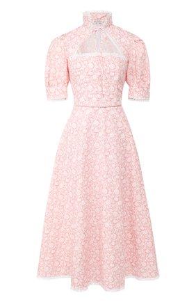 Женское хлопковое платье MASTERPEACE розового цвета, арт. MP-SS20-13 | Фото 1