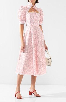 Женское хлопковое платье MASTERPEACE розового цвета, арт. MP-SS20-13 | Фото 2