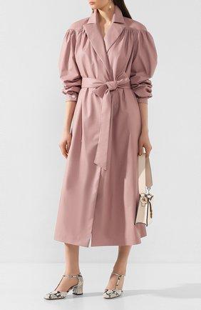 Женское пальто с поясом LESYANEBO розового цвета, арт. SS20/H-258A   Фото 2