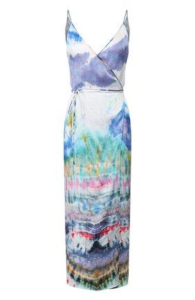 Женское шелковое платье AMIRI разноцветного цвета, арт. Y0W08249SA | Фото 1
