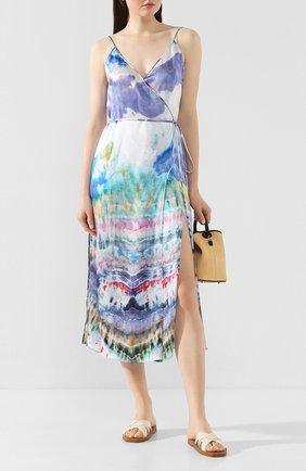 Женское шелковое платье AMIRI разноцветного цвета, арт. Y0W08249SA | Фото 2