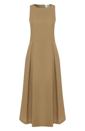 Женское хлопковое платье TWINS FLORENCE бежевого цвета, арт. TWFPE20ABI0008B | Фото 1