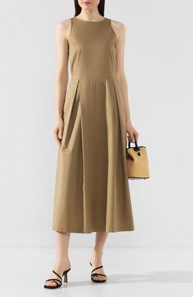 Женское хлопковое платье TWINS FLORENCE бежевого цвета, арт. TWFPE20ABI0008B | Фото 2
