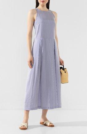 Женское шелковое платье TWINS FLORENCE голубого цвета, арт. TWFPE20ABI0008 | Фото 2