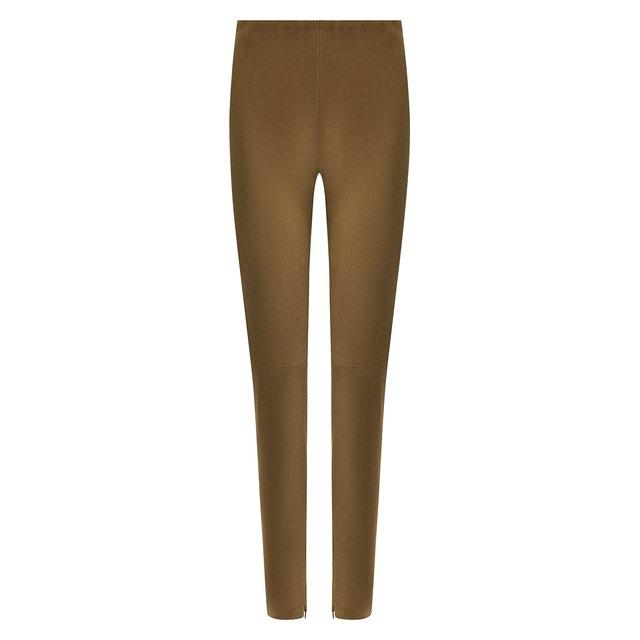 Замшевые брюки-скинни Ralph Lauren