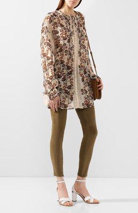 Женские замшевые брюки-скинни RALPH LAUREN хаки цвета, арт. 290618851 | Фото 2