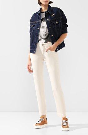 Женские джинсы DOLCE & GABBANA кремвого цвета, арт. FTAIAD/G8CH9   Фото 2