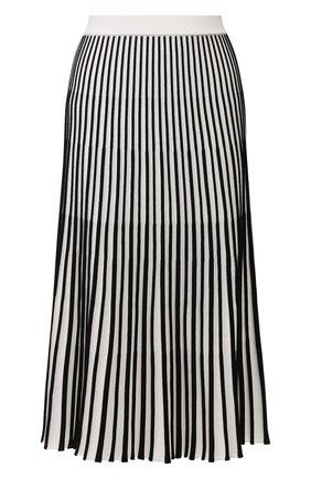 Женская хлопковая юбка ESCADA SPORT черно-белого цвета, арт. 5032716 | Фото 1