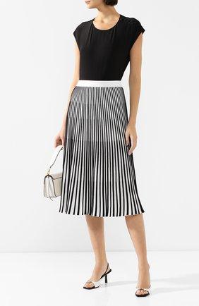 Женская хлопковая юбка ESCADA SPORT черно-белого цвета, арт. 5032716 | Фото 2