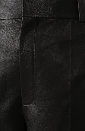 Женские кожаные шорты SAINT LAURENT черного цвета, арт. 615750/YC2IF | Фото 5