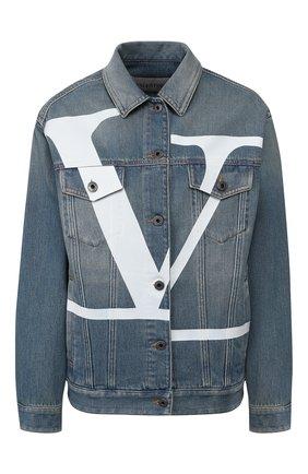 Женская джинсовая куртка VALENTINO синего цвета, арт. TB3DC01G4BD | Фото 1