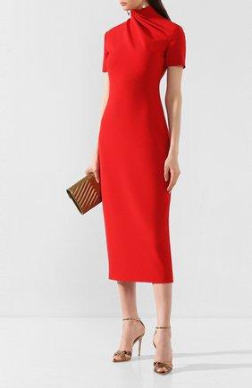 Женское платье-миди BRANDON MAXWELL красного цвета, арт. DR190PS20-SC | Фото 2