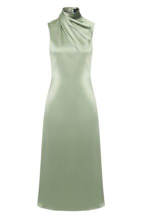 Женское шелковое платье BRANDON MAXWELL светло-зеленого цвета, арт. DR191PS20 | Фото 1