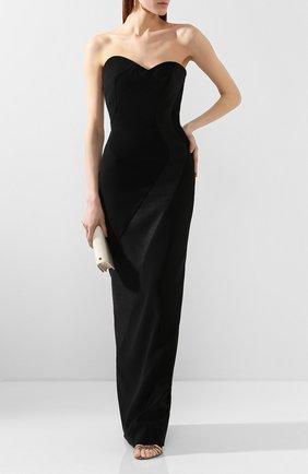 Женское платье-макси BRANDON MAXWELL черного цвета, арт. GN145PS20 | Фото 2