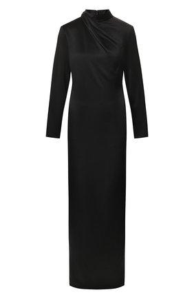 Женское шелковое платье BRANDON MAXWELL черного цвета, арт. GN148PS20 | Фото 1