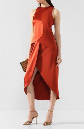 Женская шелковая юбка BRANDON MAXWELL бронзового цвета, арт. SK110PS20 | Фото 2