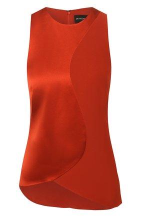 Женская шелковый топ BRANDON MAXWELL бронзового цвета, арт. TP236PS20 | Фото 1