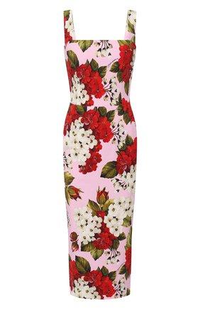 Женское платье из вискозы DOLCE & GABBANA розового цвета, арт. F6H4UT/FSRM0 | Фото 1