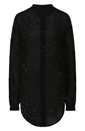 Женская рубашка из вискозы SAINT LAURENT черного цвета, арт. 611913/Y241S | Фото 1