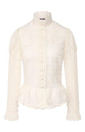 Женская хлопковая блузка RALPH LAUREN белого цвета, арт. 290797882 | Фото 1