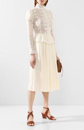 Женская хлопковая блузка RALPH LAUREN белого цвета, арт. 290797882 | Фото 2