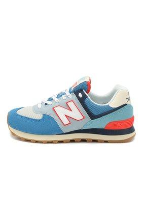 Детские кроссовки 574 NEW BALANCE голубого цвета, арт. ML574SOS/D   Фото 2 (Материал внутренний: Текстиль)