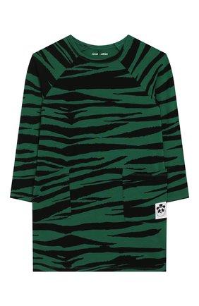 Детское платье MINI RODINI зеленого цвета, арт. 20250131 | Фото 1