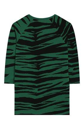 Детское платье MINI RODINI зеленого цвета, арт. 20250131 | Фото 2