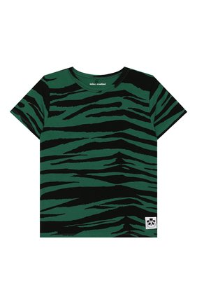 Детская футболка MINI RODINI зеленого цвета, арт. 20220147 | Фото 1