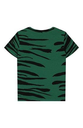 Детская футболка MINI RODINI зеленого цвета, арт. 20220147 | Фото 2