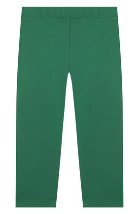 Детские хлопковые брюки MINI RODINI зеленого цвета, арт. 20230157 | Фото 2