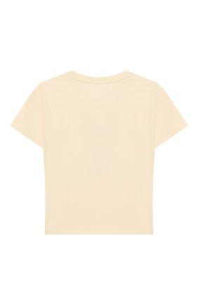 Детская хлопковая футболка MINI RODINI белого цвета, арт. 20220137 | Фото 2