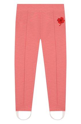 Детского леггинсы MINI RODINI розового цвета, арт. 20230144 | Фото 1