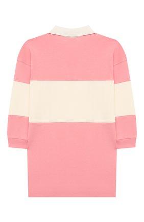 Детское хлопковое платье MINI RODINI розового цвета, арт. 20250133 | Фото 2