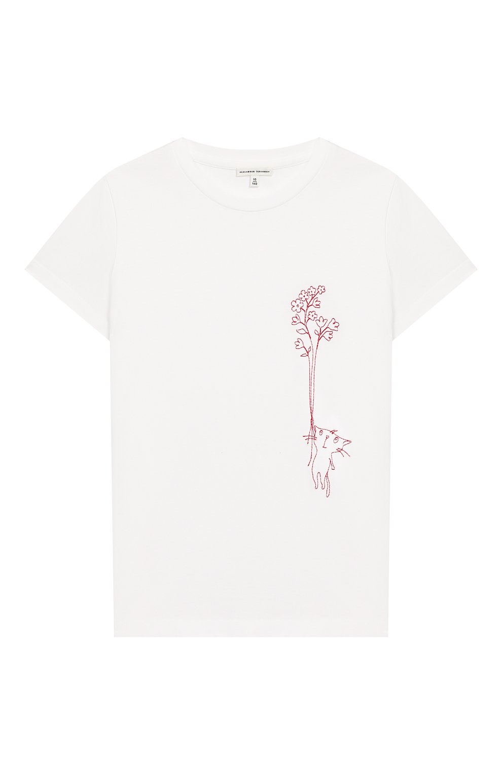Детская хлопковая футболка ALEXANDER TEREKHOV белого цвета, арт. KIDSTSH010FC/5007.100/S20   Фото 1
