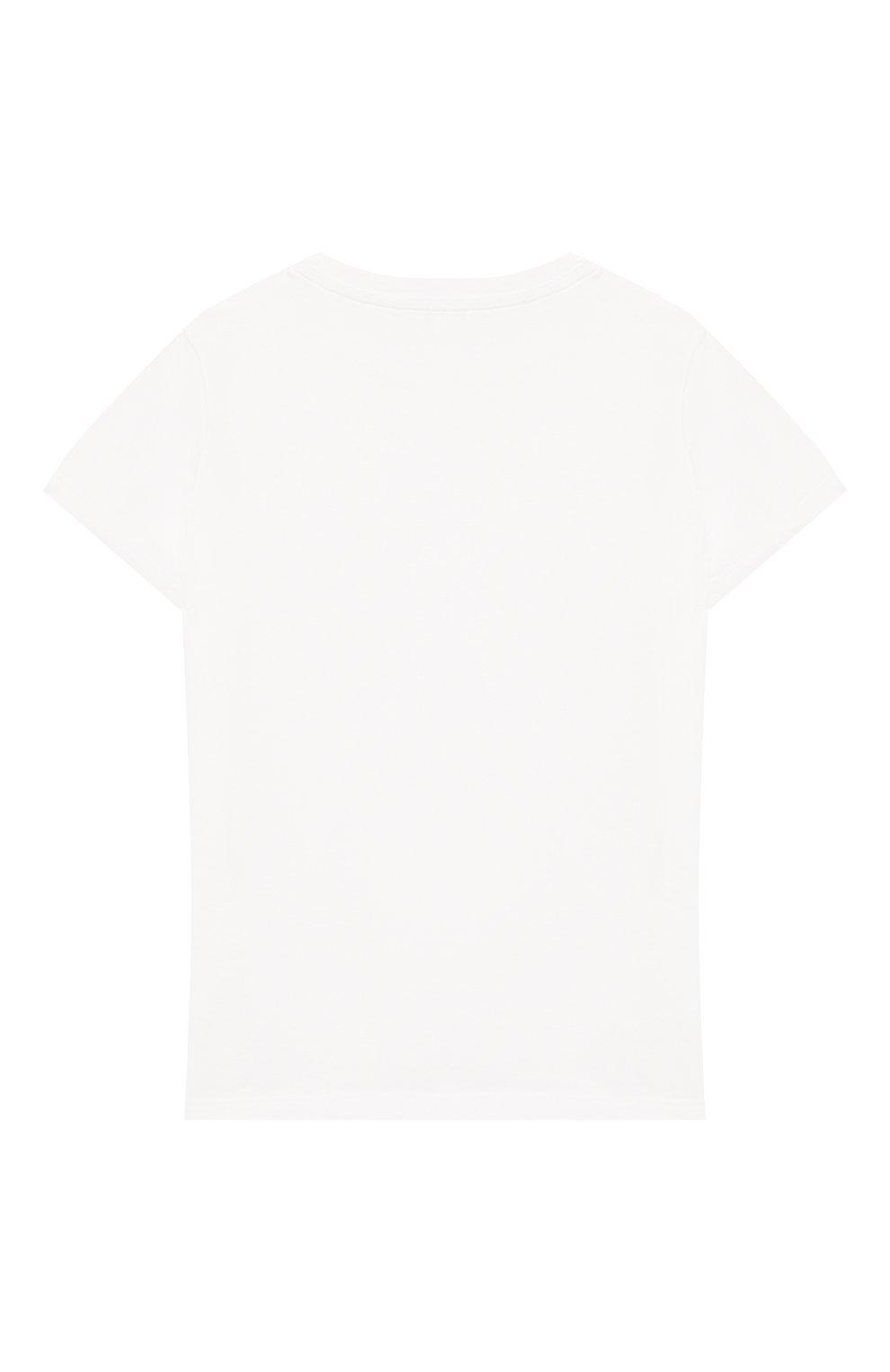 Детская хлопковая футболка ALEXANDER TEREKHOV белого цвета, арт. KIDSTSH010FC/5007.100/S20   Фото 2