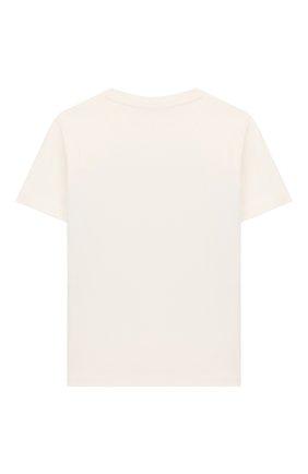 Детская хлопковая футболка VERSACE белого цвета, арт. YD000172/YA00079/4A-6A | Фото 2