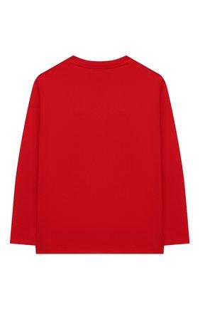Детская хлопковый лонгслив VERSACE красного цвета, арт. YD000209/YA00079/4A-6A | Фото 2
